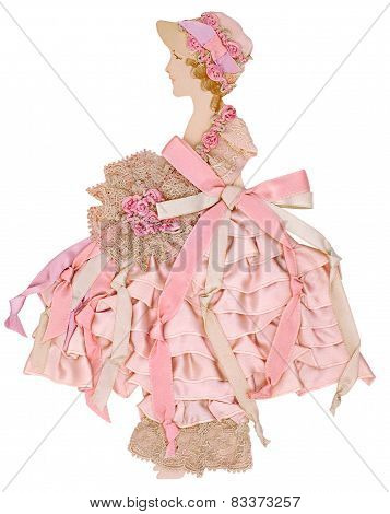 Pink Ribbon Paper Doll