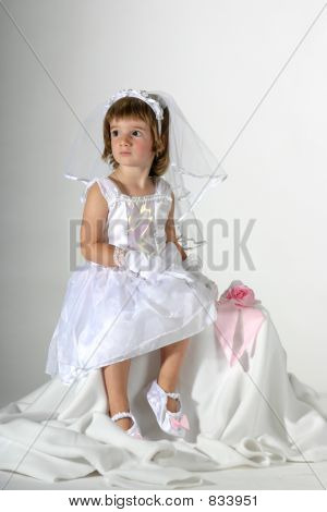 little bride sitting