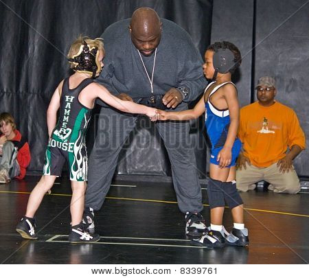 Young Boys Ready To Wrestle