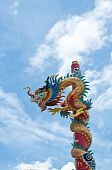 image of dragon china art in thailand poster