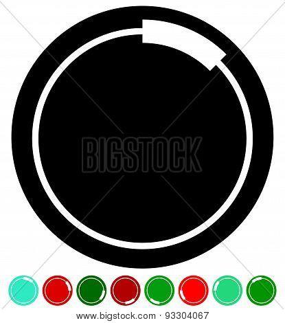 Buffer, Pre-loader Shape As A Segmented Circle. Vector.
