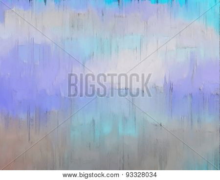 Pastel Colored Background - Digital Painting In Blue And Brown