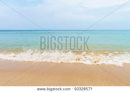 Beach And Tropical With Sand  And Wave