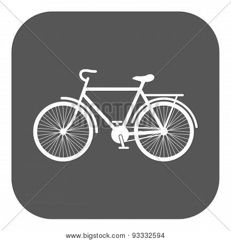 The Bike Icon. Bicycle Symbol. Flat