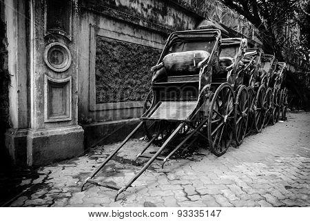 Rickshaws In Monochome