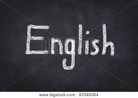 English written text on chalkboard