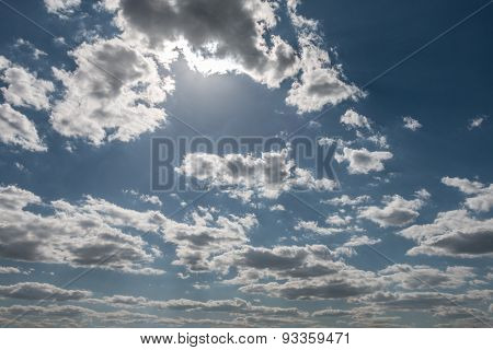 the sky and clouds