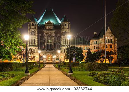 Queen's Park Building at Night