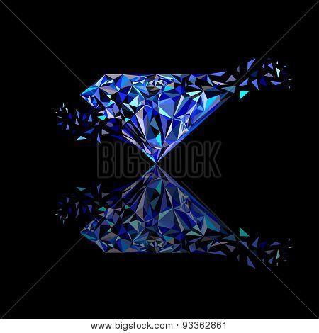 Gemstones around the world merge to be one Marvellous Diamond use for blue sapphire logo