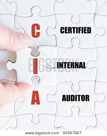 Last Puzzle Piece With Business Acronym Cia