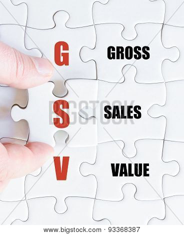 Last Puzzle Piece With Business Acronym Gsv