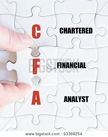 Last Puzzle Piece With Business Acronym Cfa