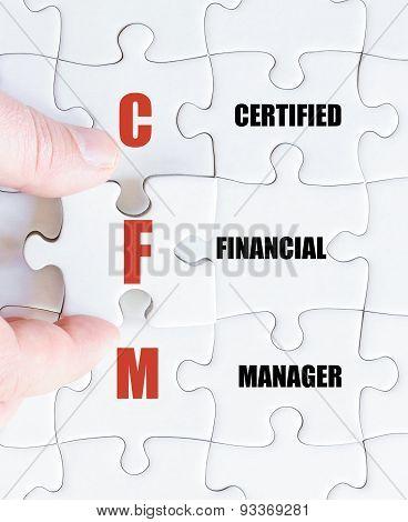 Last Puzzle Piece With Business Acronym Cfm