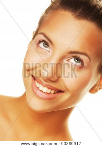 young woman with clean skin