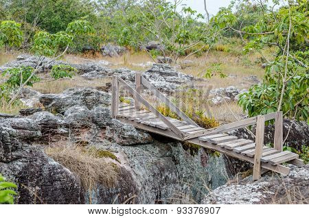 Field Of Nodulated Stone In Lan Hin Pum, Thailand
