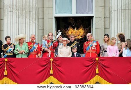 Royal Balcony Trooping Of The Color 2015