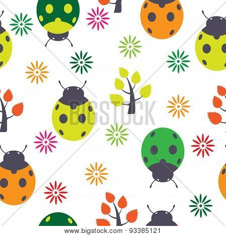 ladybirds seamless