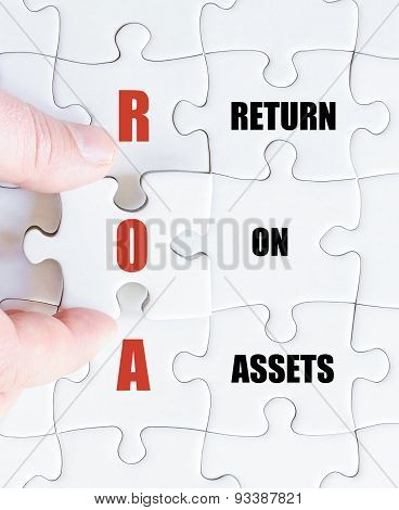 Last Puzzle Piece With Business Acronym Roa