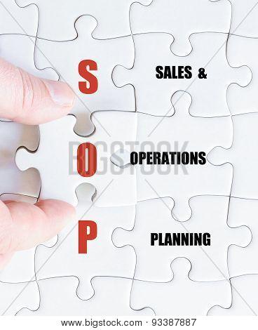 Last Puzzle Piece With Business Acronym Sop
