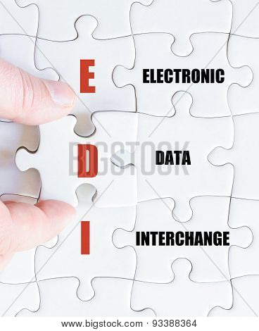 Last Puzzle Piece With Business Acronym Edi