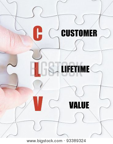 Last Puzzle Piece With Business Acronym Clv