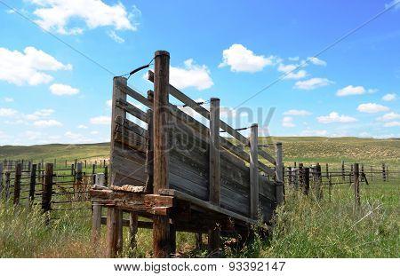 Livestock Loading Chute Ramp