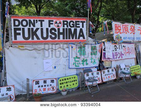 Anti nuclear demonstration Japan