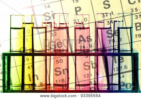 Chemical Reagents And Periodic Table.