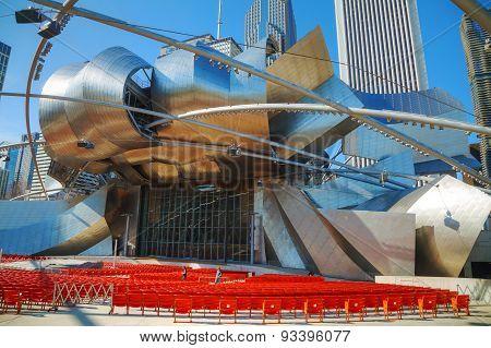 Jay Pritzker Pavilion In Millennium Park In Chicago