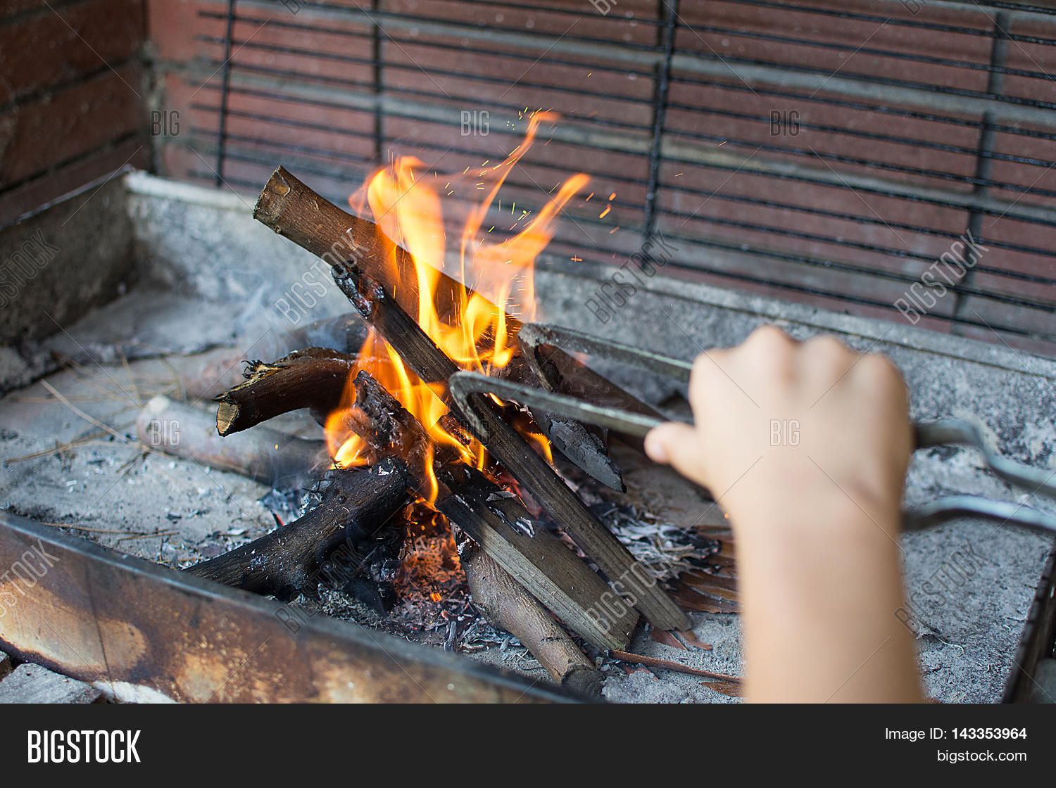 Starting Fire Charcoal Image Photo Free Trial Bigstock