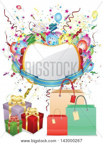 Colorful Shopping Background