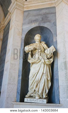 Mafra Palace - Statue Of St Ignatius Of Loyola
