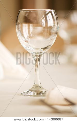 Wine glass on the table - shallow depth of field