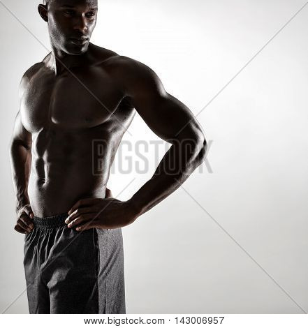 Strong Young Man Posing Confidently