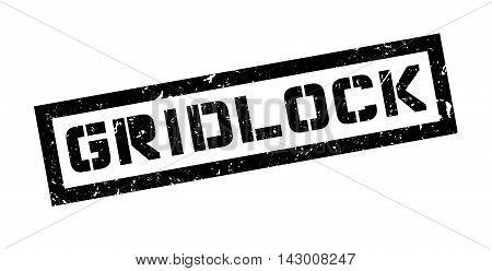 Gridlock Rubber Stamp