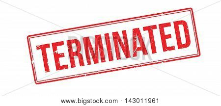 Terminated Rubber Stamp