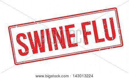 Swine Flu Rubber Stamp