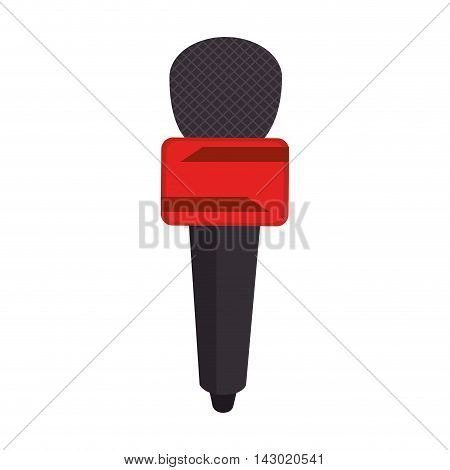 microphone news journalist media audio public press vector illustration isolated