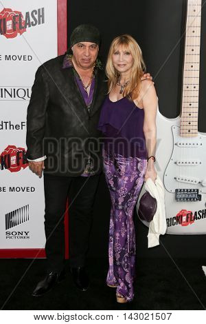 NEW YORK-AUG 3: Musician Steven Van Zandt (L) and wife Maureen Van Zandt attend the 'Ricki And The Flash' New York premiere at AMC Lincoln Square Theater on August 3, 2015 in New York City.