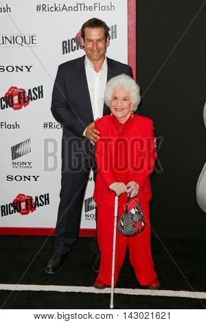 NEW YORK-AUG 3: Actress Charlotte Rae (R) attends the 'Ricki And The Flash' New York premiere at AMC Lincoln Square Theater on August 3, 2015 in New York City.