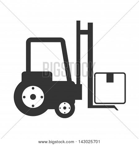 lift truck fork cargo hydraulic machine industrial vector illustration isolated