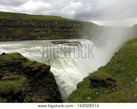 Gulfoss Waterfall and Chasm, South Iceland, Golden Circle