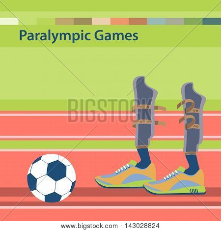 Summer Paralympic Games. International sports competitions for people with disabilities. Sporting the lower limbs. Flat vector illustration