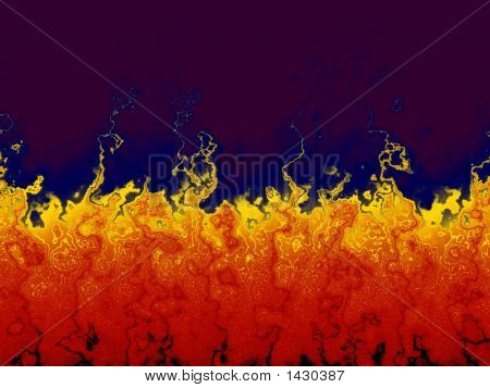 Hot Abstract Flames - Artificial Digital Fire