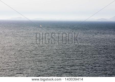 Seascape from Piano di Sorrento little village near Sorrento Naples