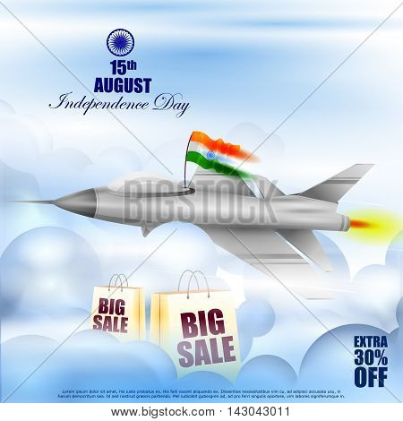 easy to edit vector illustration of Indian Independence Day celebration Advertisement background