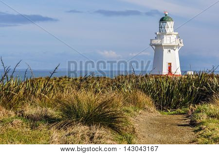 Old lighthouse near Slope Point the Southernmost point of New Zealand