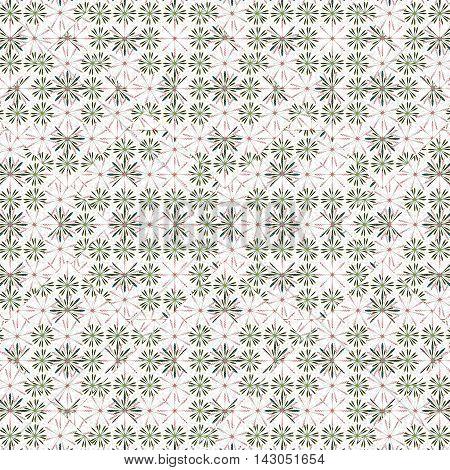 Ditsy Stylized Floral Seamless Pattern