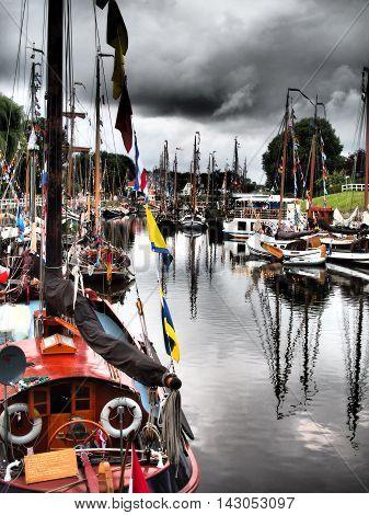 the port of carolinensiel at the North sea