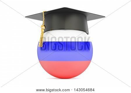 education and study in Russia concept 3D rendering isolated on white background